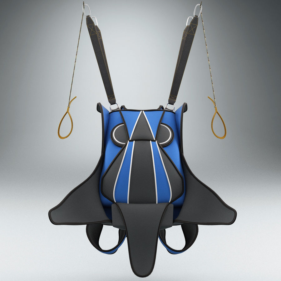 Backpack Parachute royalty-free 3d model - Preview no. 5