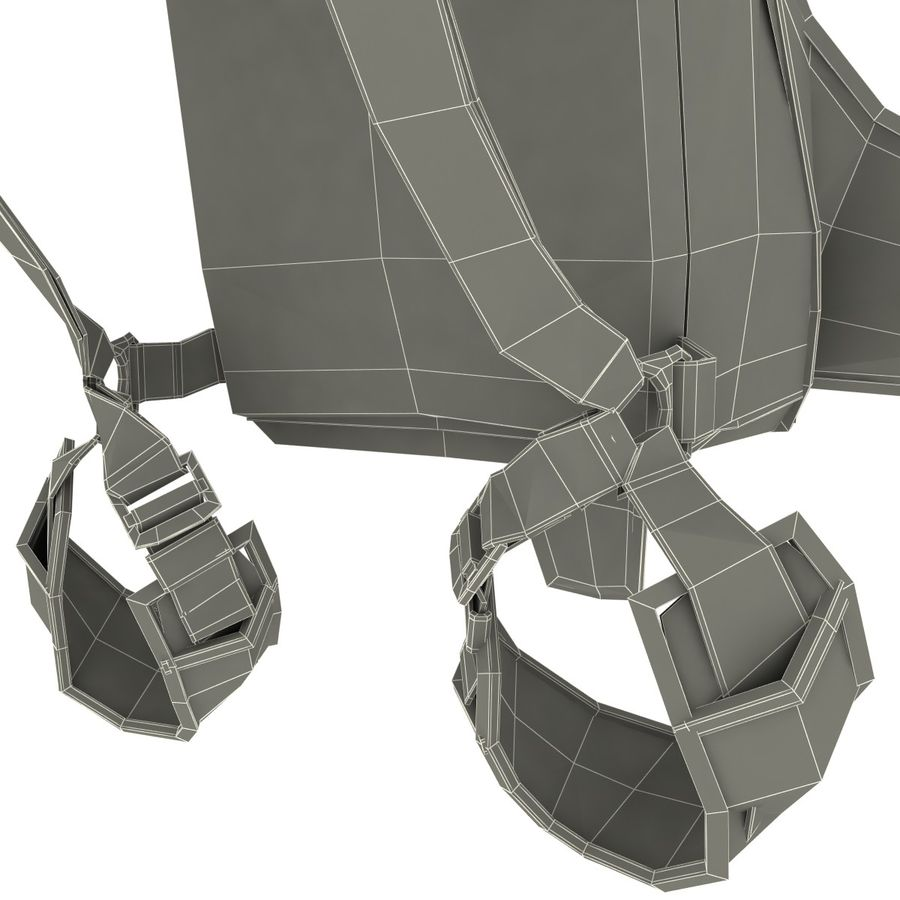 Backpack Parachute royalty-free 3d model - Preview no. 14