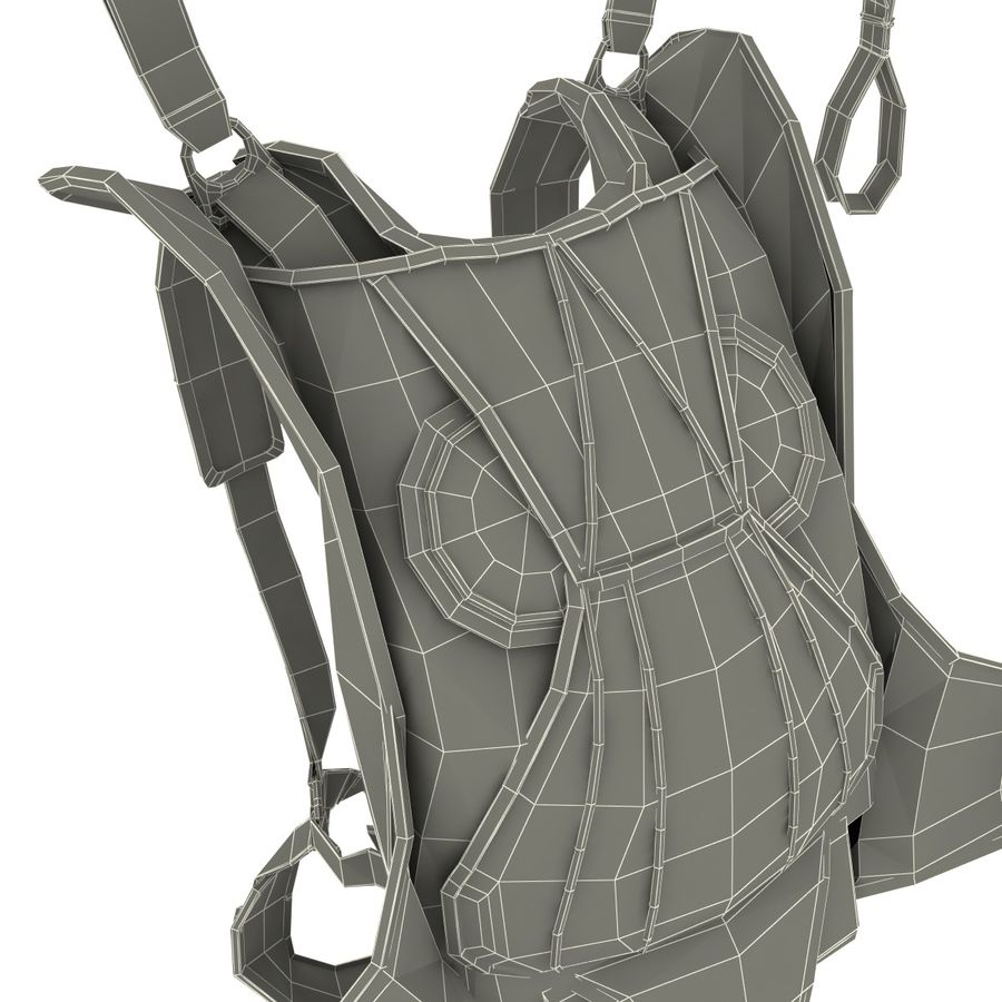Backpack Parachute royalty-free 3d model - Preview no. 15