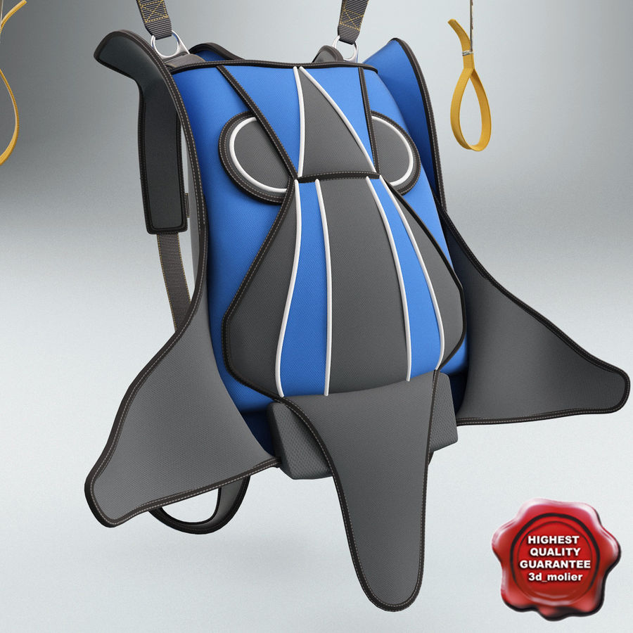 Backpack Parachute royalty-free 3d model - Preview no. 1