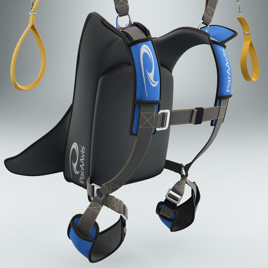 Backpack Parachute royalty-free 3d model - Preview no. 6