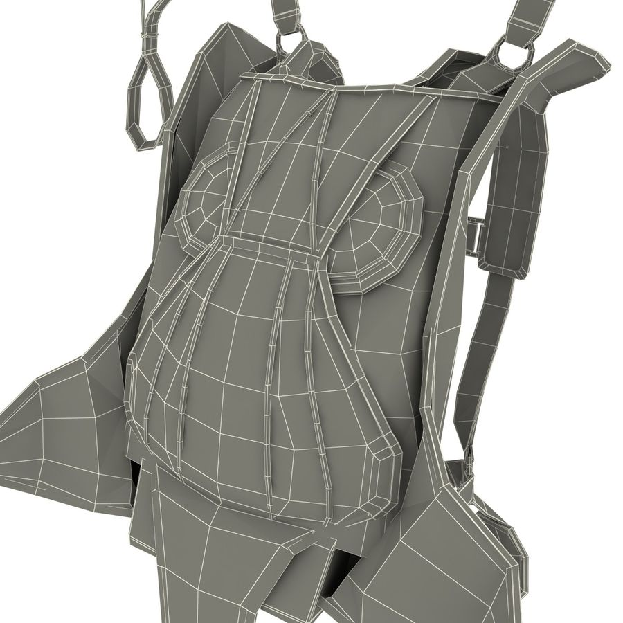 Backpack Parachute royalty-free 3d model - Preview no. 13