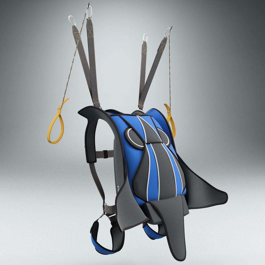 Backpack Parachute royalty-free 3d model - Preview no. 4