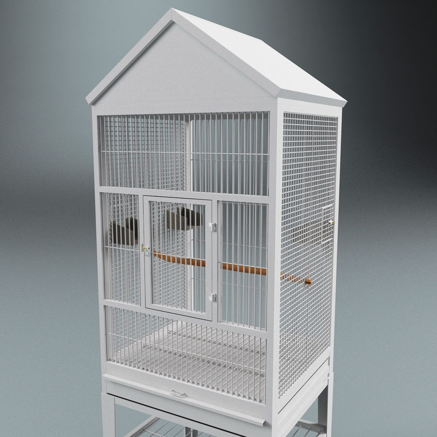 Bird Cage royalty-free 3d model - Preview no. 6