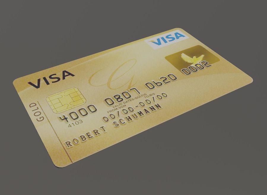 Kredietkaart royalty-free 3d model - Preview no. 4