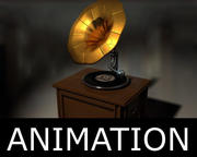 Grammophon animiert 3d model