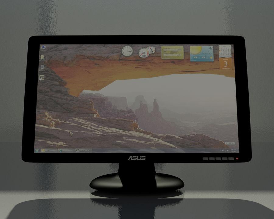 ASUS Computer Monitor royalty-free 3d model - Preview no. 4