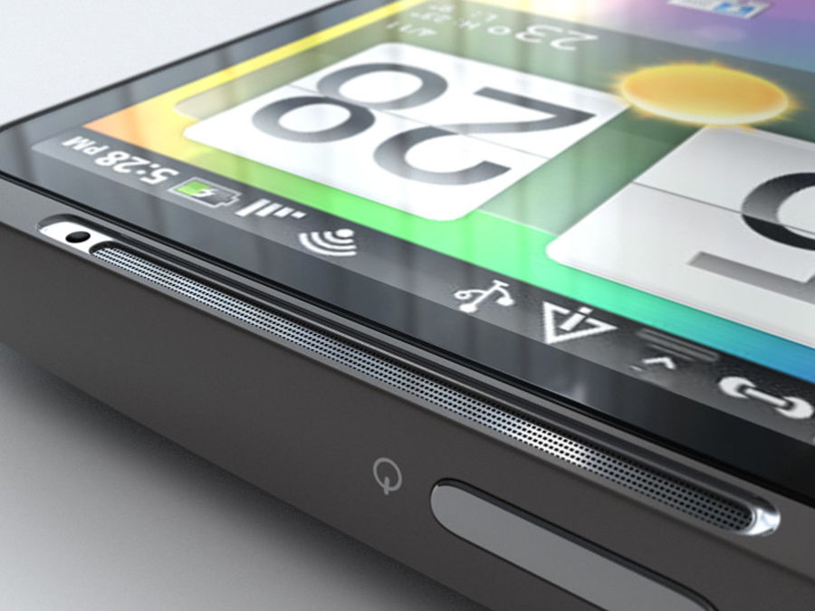 HTC Desire HD royalty-free 3d model - Preview no. 18