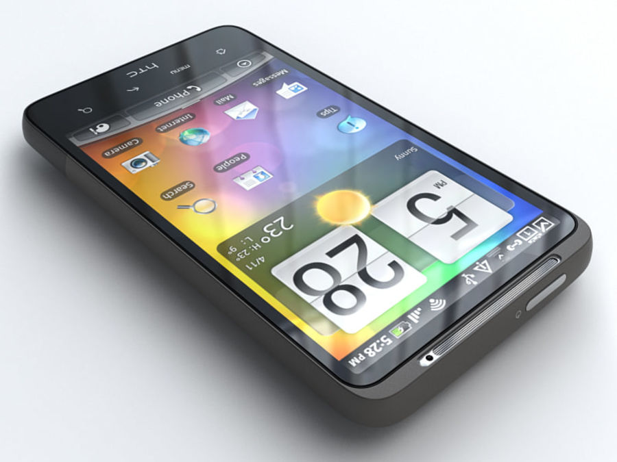 HTC Desire HD royalty-free 3d model - Preview no. 2