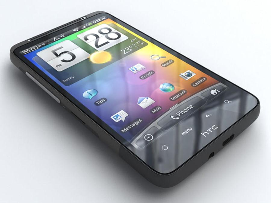 HTC Desire HD royalty-free 3d model - Preview no. 1