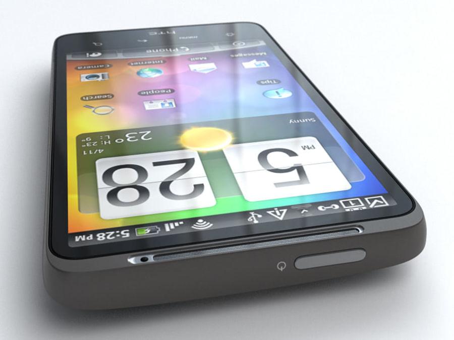 HTC Desire HD royalty-free 3d model - Preview no. 5