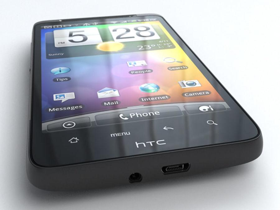 HTC Desire HD royalty-free 3d model - Preview no. 4