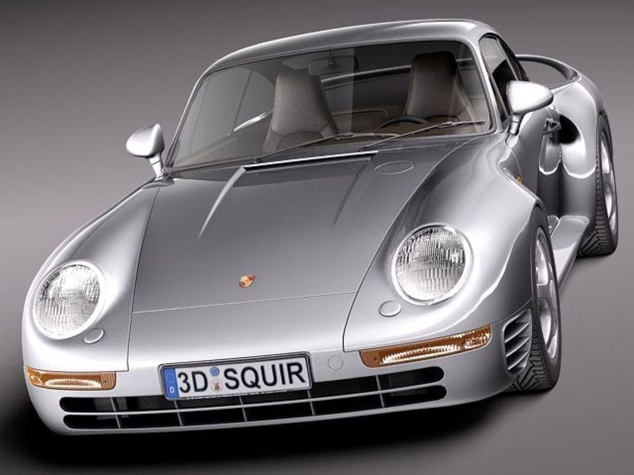 Porsche 959 1986 royalty-free 3d model - Preview no. 2