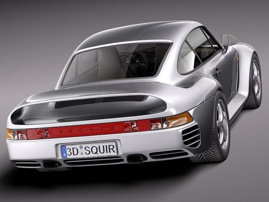 Porsche 959 1986 royalty-free 3d model - Preview no. 5