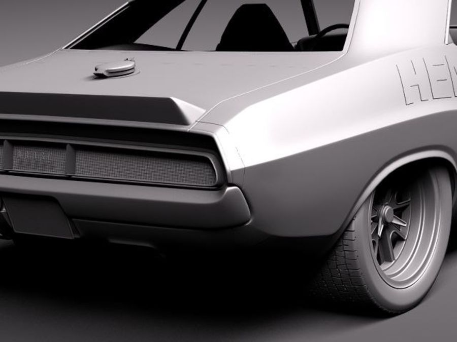 Desafiador do Dodge Challenger 1970 royalty-free 3d model - Preview no. 10