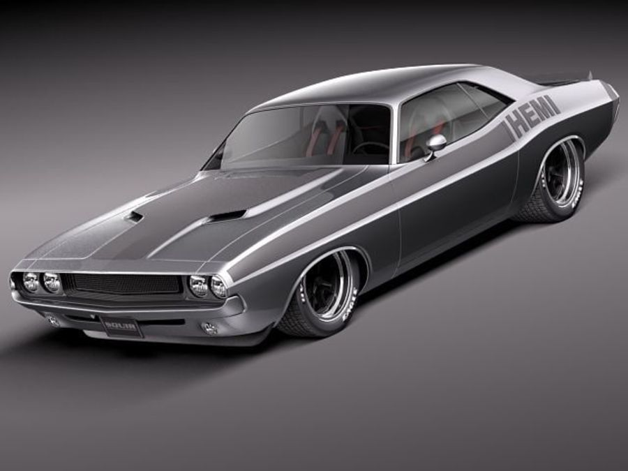 Dodge Challenger 1970 Custom royalty-free 3d model - Preview no. 1