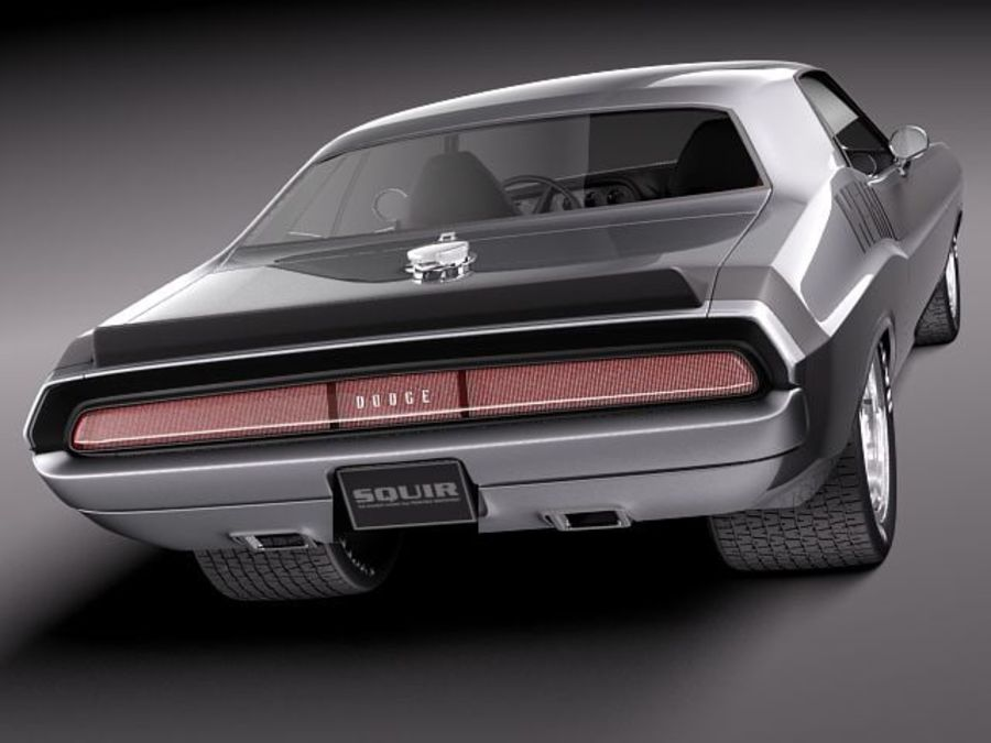 Desafiador do Dodge Challenger 1970 royalty-free 3d model - Preview no. 6