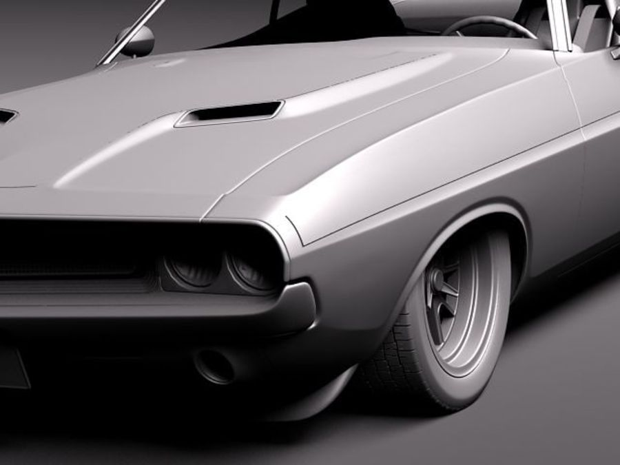 Desafiador do Dodge Challenger 1970 royalty-free 3d model - Preview no. 11