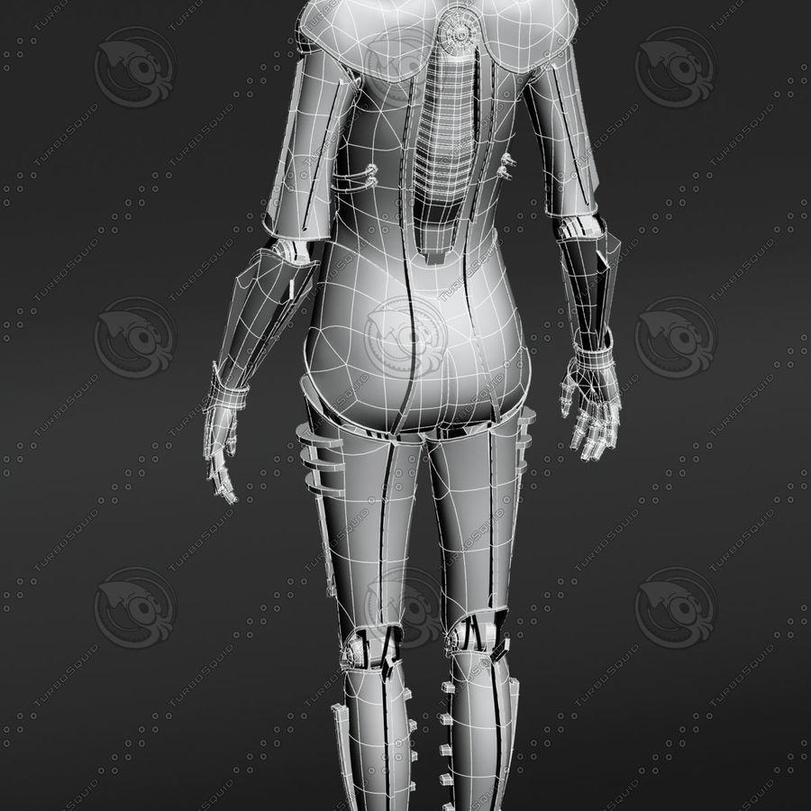 Metropolis Style Robot royalty-free 3d model - Preview no. 4