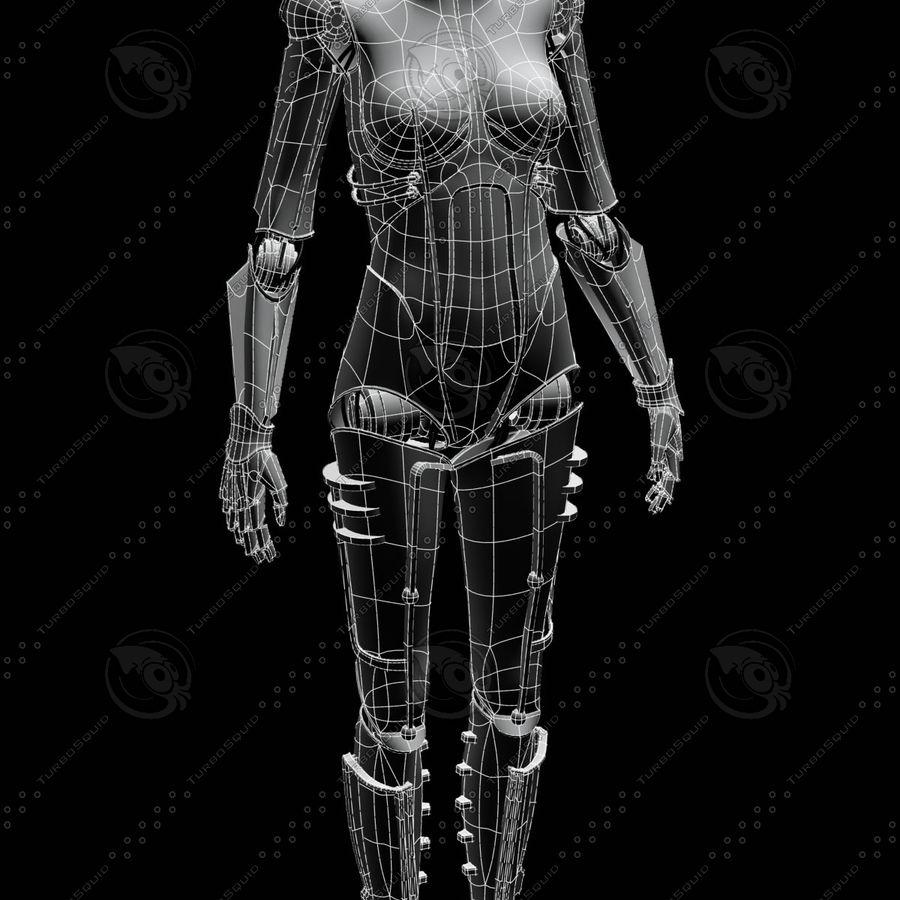 Metropolis Style Robot royalty-free 3d model - Preview no. 3
