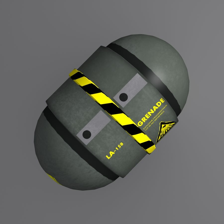 Grenade royalty-free 3d model - Preview no. 4
