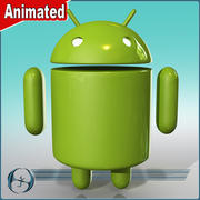 Android Mascot (ANIMATED) 3d model