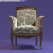 Rococo Arm Chair 3d model