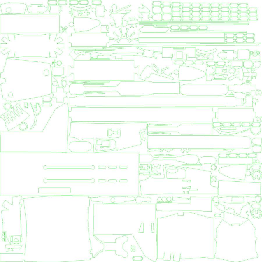 SCAR L DIY kit royalty-free 3d model - Preview no. 14