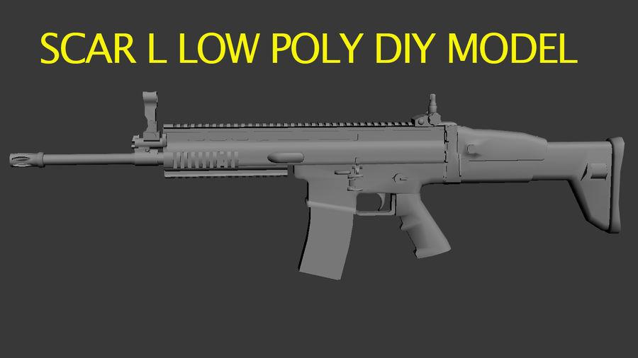 SCAR L DIY kit royalty-free 3d model - Preview no. 2