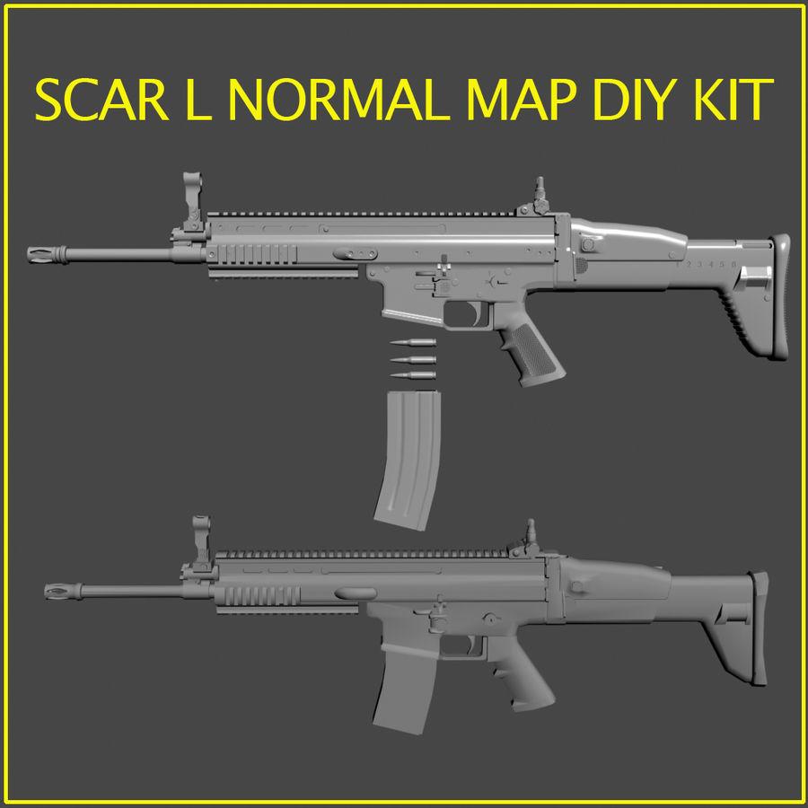 SCAR L DIY kit royalty-free 3d model - Preview no. 1