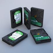 Western Digital Havyar Yeşil HDD 3d model