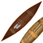 Drewniane łodzie 3d model
