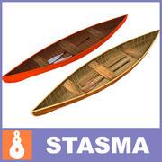 木製ボート 3d model