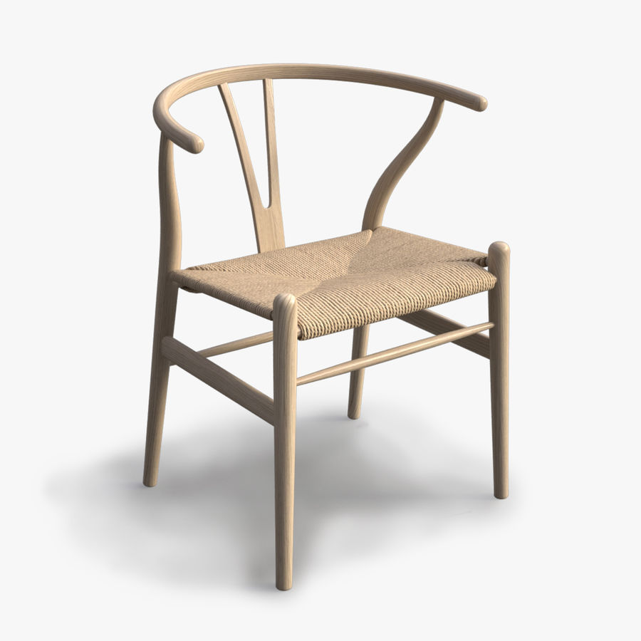 Wishbone Chair royalty-free 3d model - Preview no. 1