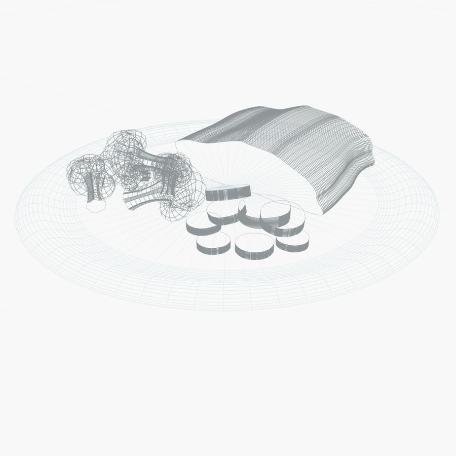 aliments à vapeur royalty-free 3d model - Preview no. 2