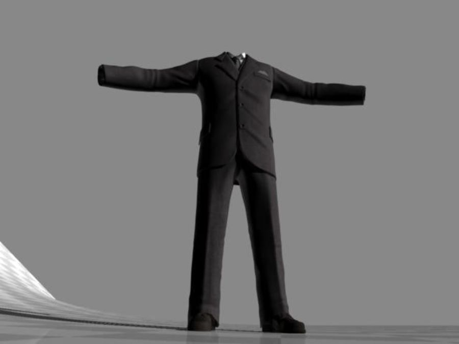 suit royalty-free 3d model - Preview no. 7