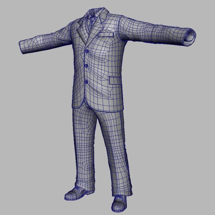suit royalty-free 3d model - Preview no. 15