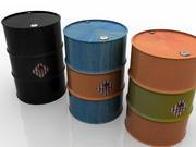 Set di barili di petrolio 3d model