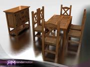 C2_S3_Puebla dining-Comedor Puebla 3d model