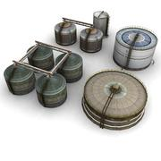 Zbiorniki na zakłady chemiczne 3d model