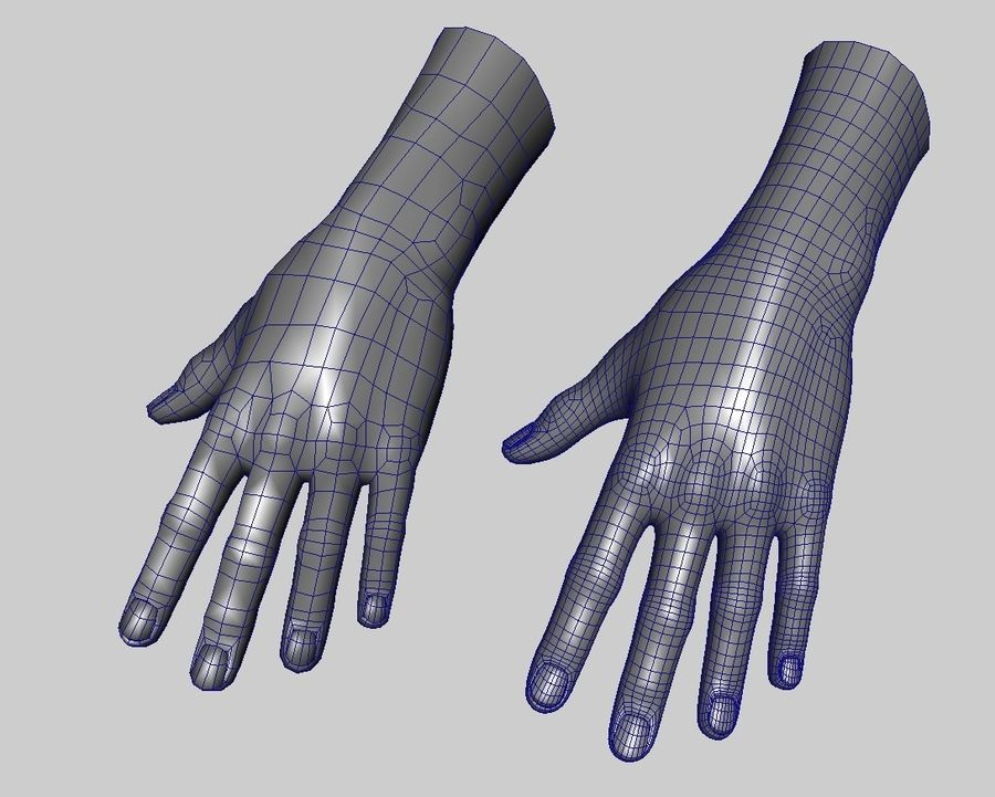 Hand royalty-free 3d model - Preview no. 12