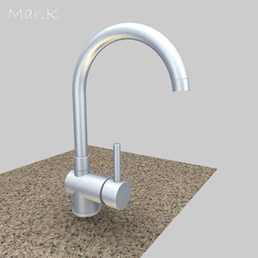 Faucet_franke royalty-free 3d model - Preview no. 1