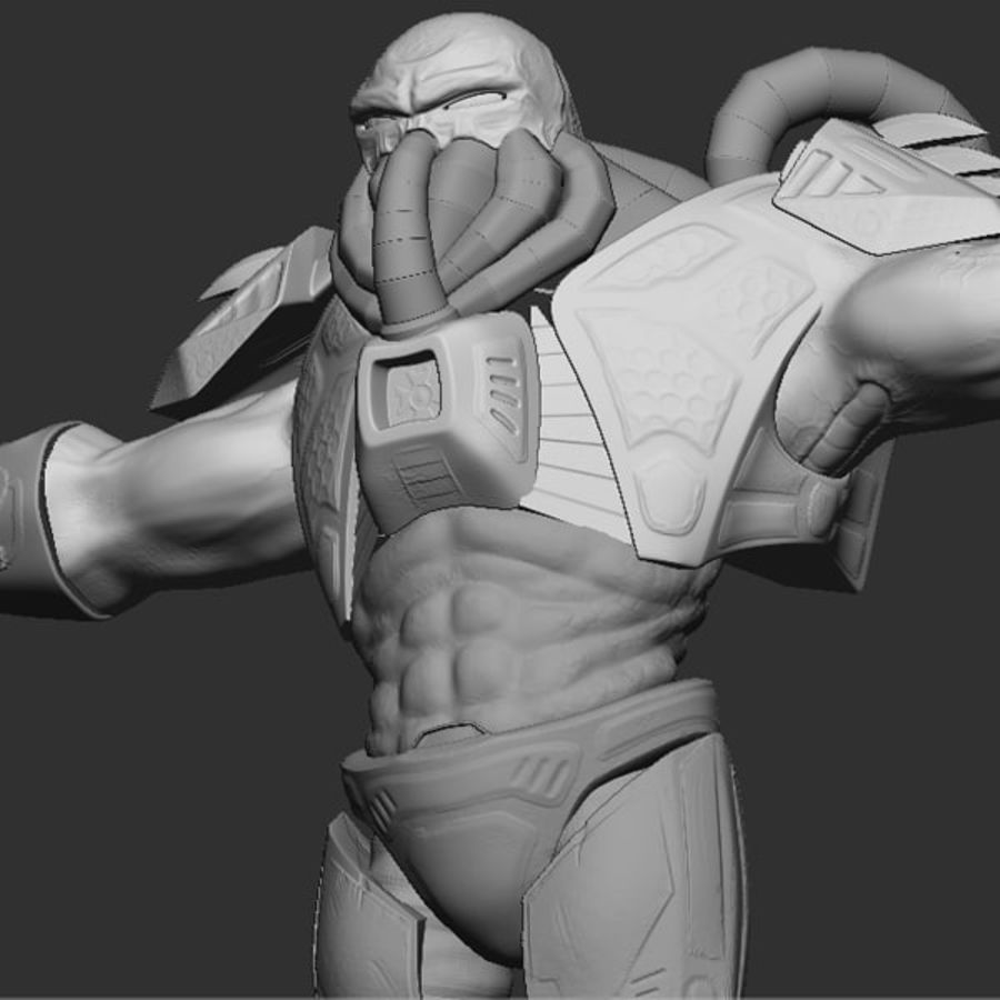 Game Character Creature royalty-free 3d model - Preview no. 3