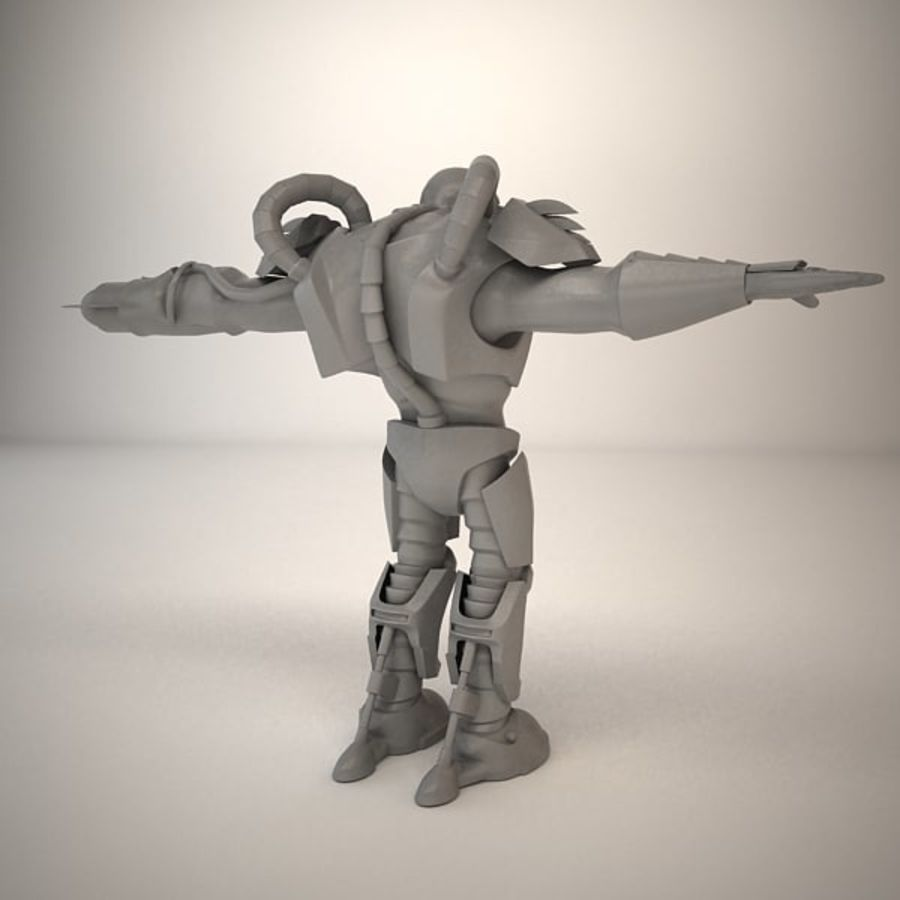 Game Character Creature royalty-free 3d model - Preview no. 13