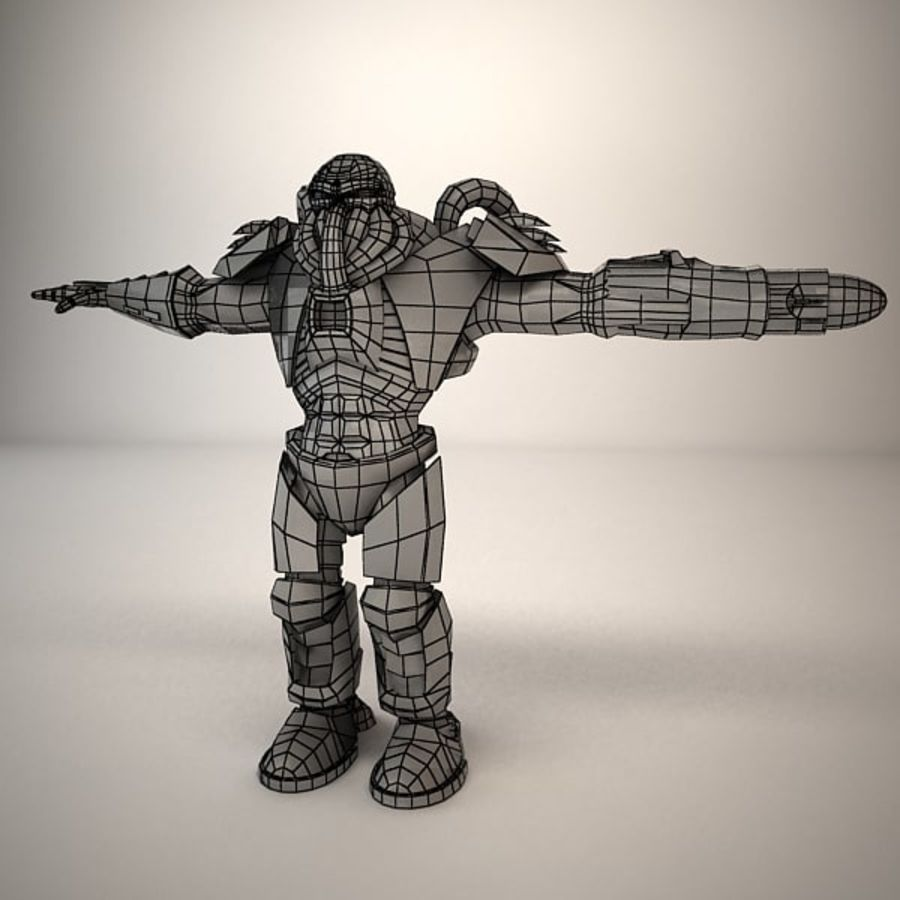 Game Character Creature royalty-free 3d model - Preview no. 8