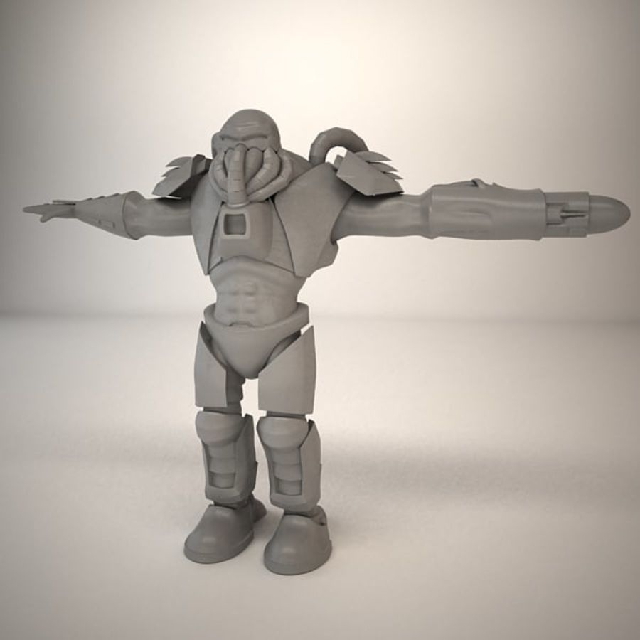 Game Character Creature royalty-free 3d model - Preview no. 11