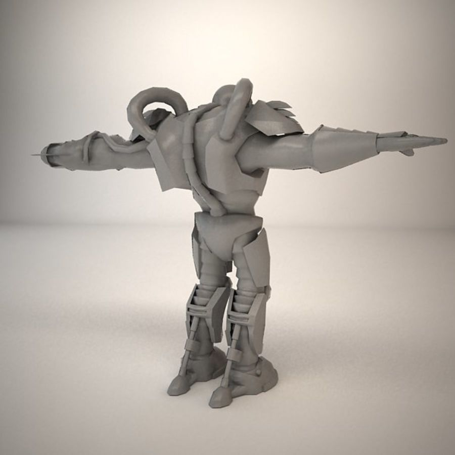 Game Character Creature royalty-free 3d model - Preview no. 9