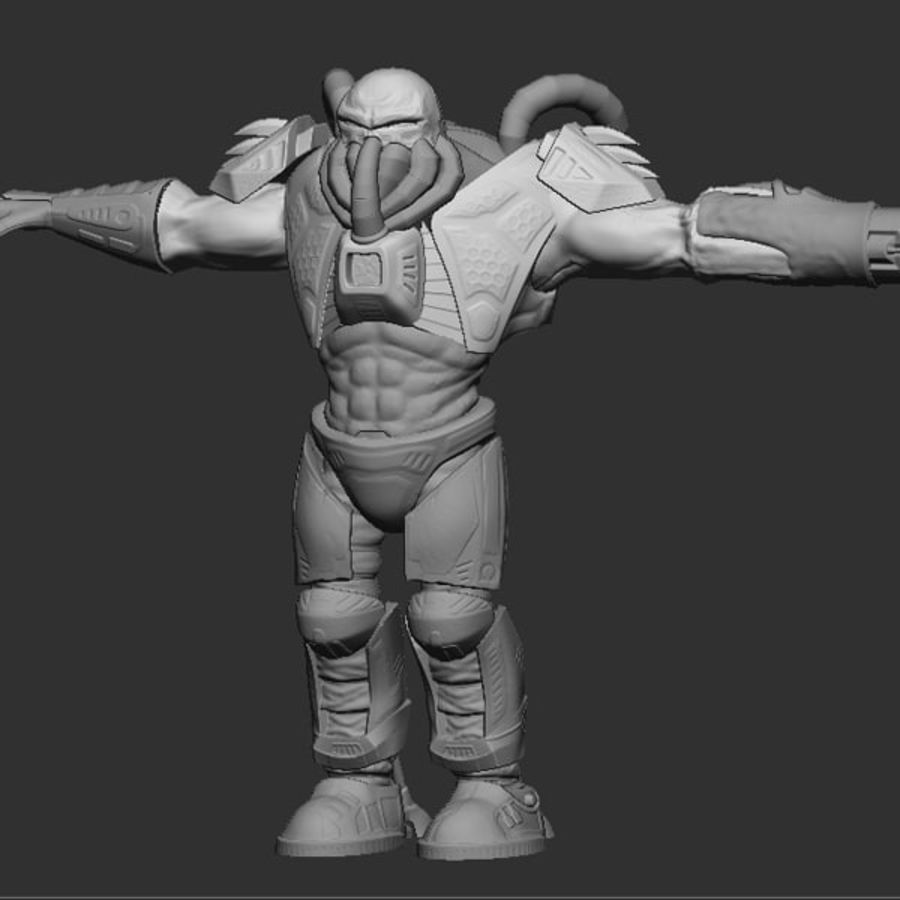 Game Character Creature royalty-free 3d model - Preview no. 1
