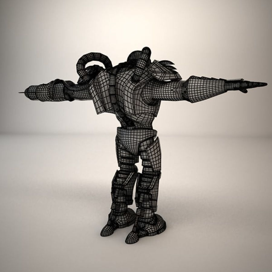 Game Character Creature royalty-free 3d model - Preview no. 14