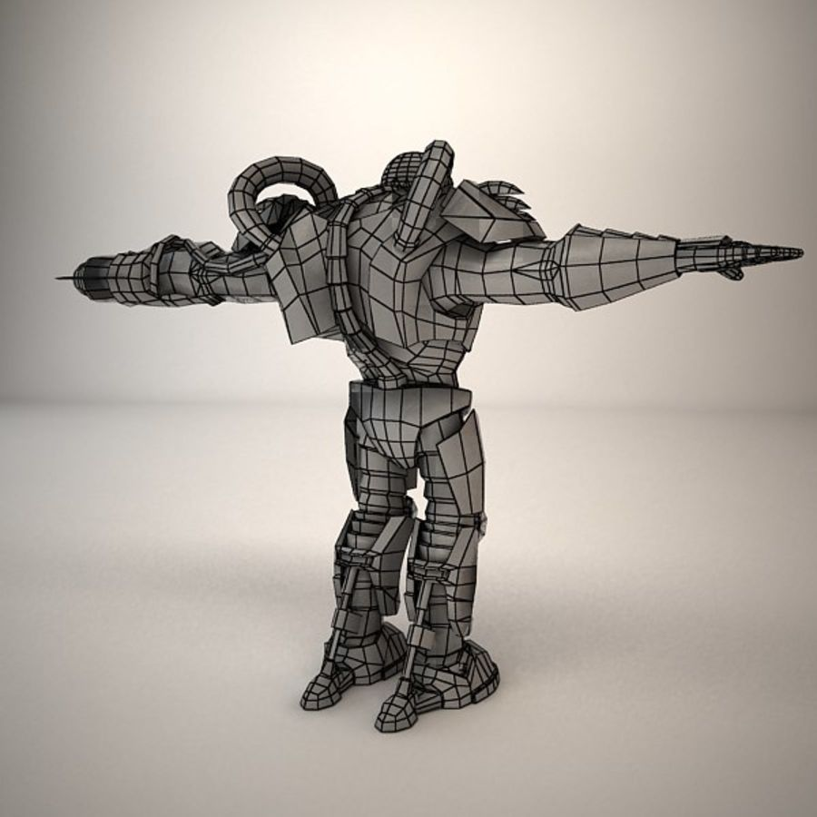 Game Character Creature royalty-free 3d model - Preview no. 10